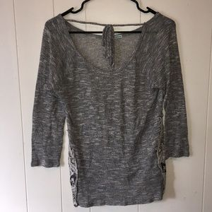 Front tie lace Shirt by Maurices